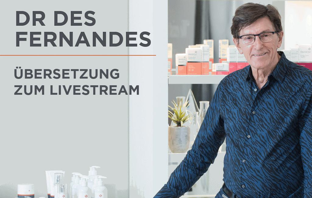 Dr Des Fernandes live auf Instagram
