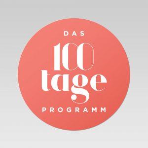 Bodenaufkleber zum 100 Tage Programm