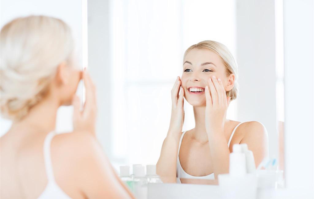 Kosmetik-Konzept für eine schöne und gesunde Haut
